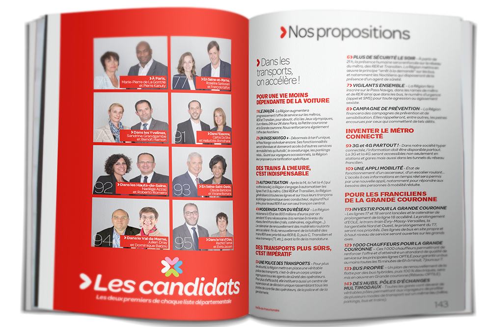 Pages Candidats et propositions